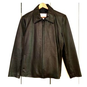 Black Leather Jacket - Nine West